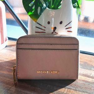 """Michael Kors """"Jet Set"""" wallet in nude-pink"""